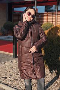 """Стеганое женское зимнее пальто """"TINNY"""" с капюшоном"""