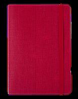 #Блокнот деловой COLOR TUNES А5 96 л нелинов красный исккожа