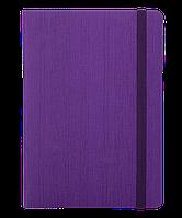 #Блокнот деловой COLOR TUNES А5 96 л нелинов фиолетовый исккожа