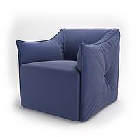 Кресло мягкое для кафе, бара, ресторана, отеля, офиса, лаунж, HoReCa, синее