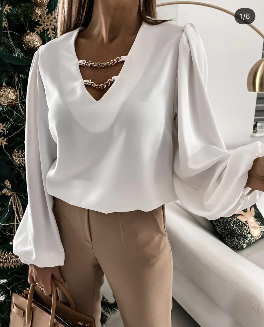 Женская блузка с цепочками (Батал)