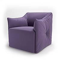 Кресло мягкое для кафе, бара, ресторана, отеля, офиса, лаунж, HoReCa, фиолетовый