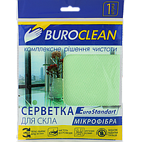 #Салфетка для стекла микрофибра BuroClean EuroStandart 30х30 см