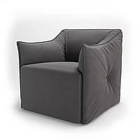 Кресло мягкое для кафе, бара, ресторана, отеля, офиса, лаунж, HoReCa, серый