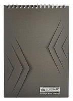 /Блокнот на пружине сверху MONOCHROME JOBMAX А5 48 л серый