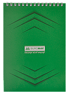/Блокнот на пружине сверху MONOCHROME JOBMAX А5 48 л зеленый