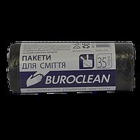 /Пакеты для мусора 35л/30шт черные BuroClean ECO