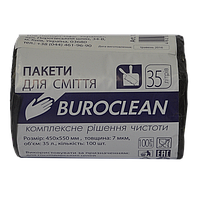 /Пакеты для мусора 35л/100шт черные BuroClean ECO
