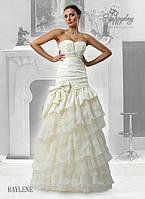 """Свадебное платье из тафты с оборками из франзузских кружев """"RAILENE"""""""