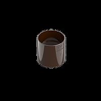 Соединитель трубы INES 80 мм (муфта трубы), водосточная система INES, Цвет RAL 8017 коричневый.