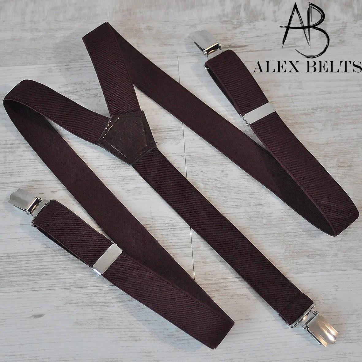 Підтяжки підліткові для брюк 25-ка Y унісекс коричневі