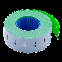 Ценник 22x12 мм (1000 шт 12 м) прямоугольный внутренняя намотка зеленый