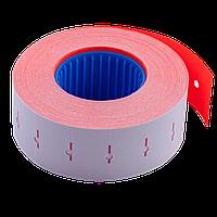 Ценник 22x12 мм (1000 шт 12 м) прямоугольный внутренняя намотка красный