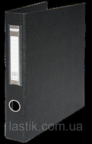 $Регистратор двухст черный А4 40 мм 4 Dобркольца, фото 2