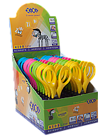 ^Ножницы детские128 мм з 3D ручками в картонном дисплее цвета ассорти KIDS Line