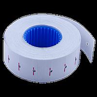 Ценник 22x12 мм (1000 шт 12 м) прямоугольный внутренняя намотка белый