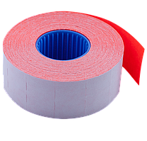 Ценник 26x16 мм (1000 шт 12 м) прямоугольный внутренняя намотка красный