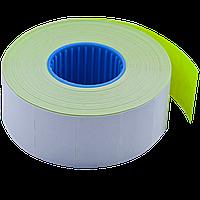Ценник 26x16 мм (1000 шт 12 м) прямоугольный внутренняя намотка желтый