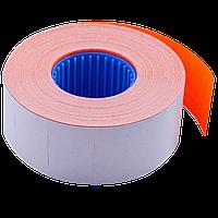 Ценник 26x16 мм (1000 шт 12 м) прямоугольный внутренняя намотка оранжевый