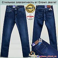 Джинсы мужские классические бренд Crown Jeans Turkey синего цвета