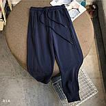 Штаны спортивные женские на шнурке из двунити (Норма, Батал), фото 2