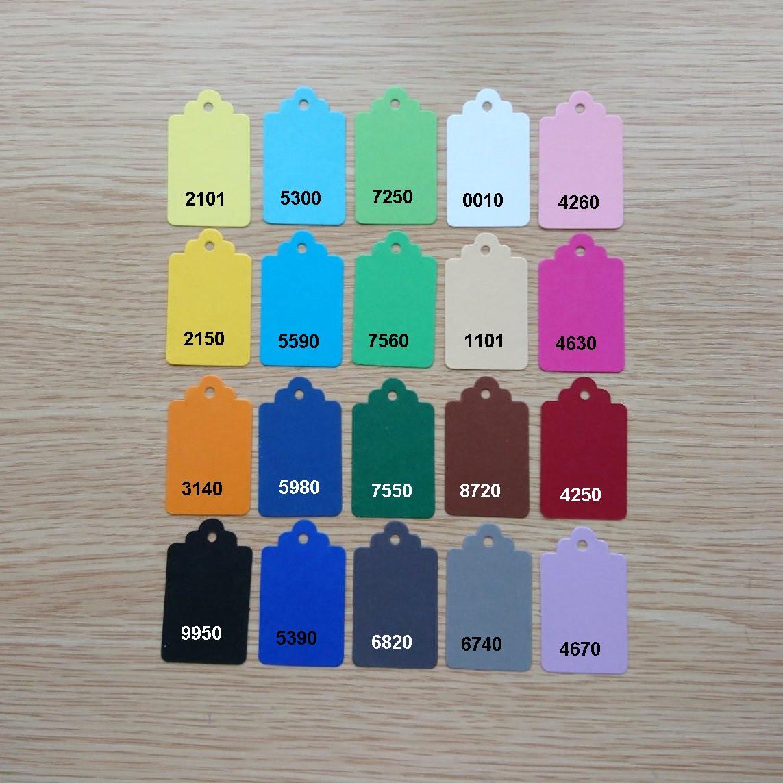 Кольорова бирка 30* 50 мм, етикетка з дизайнерського картону
