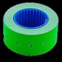 Ценник 22x12 мм (500 шт 6 м) прямоугольный внешняя намотка зеленый