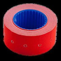 Ценник 22x12 мм (500 шт 6 м) прямоугольный внешняя намотка красный