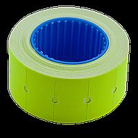 Ценник 22x12 мм (500 шт 6 м) прямоугольный внешняя намотка желтый