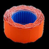 Ценник 22x12 мм (500 шт 6 м) фигурный внешняя намотка оранжевый