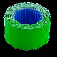 Ценник 26x12 мм (500 шт 6 м) фигурный внешняя намотка зеленый