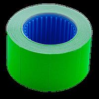 Ценник 26x16 мм (375 шт 6 м) прямоугольный внешняя намотка зеленый