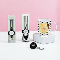 """Подарунковий набір з чашки, ложки, брелка і ручки B&G """"Я тебе люблю"""""""