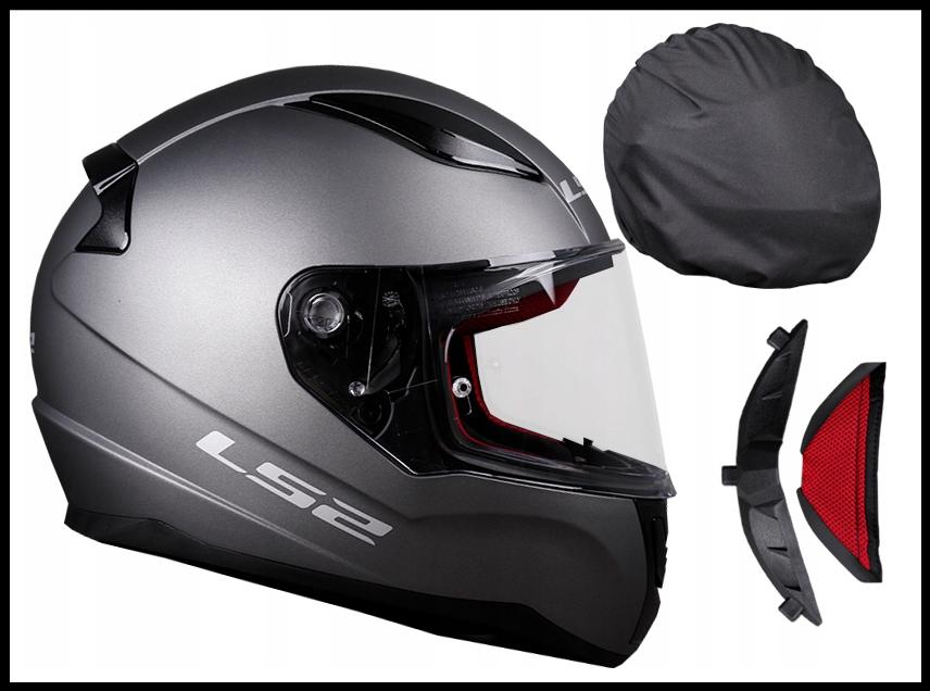 Шлем мотоциклетний LS2 FF353 RAPID титан, розмір XS.S.M.L.XL.XXL.XXXL