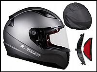Шлем мотоциклетний LS2 FF353 RAPID титан, розмір XS.S.M.L.XL.XXL.XXXL, фото 1
