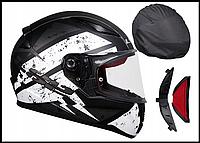 Шлем мотоциклетний LS2 FF353 RAPID чорно-білий, розмір XS.S.M.L.XL.XXL.XXXL, фото 1