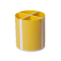 Подставка для пишущих принадлежностей ТВИСТЕР желтая 4 отделения пластик KIDS Line