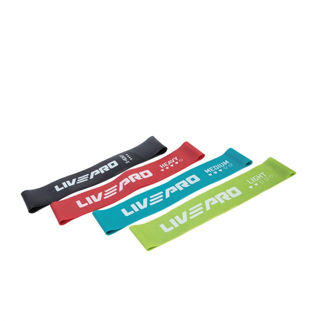 Набір еспандерів петель 4 шт LivePro Resistance Loops Bands (LP8412)