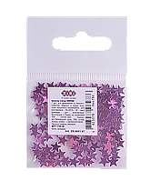 /Блестки  (Глиттер) ЗВЕЗДОЧКИ Фиолетовые 1г в пакете KIDS Line