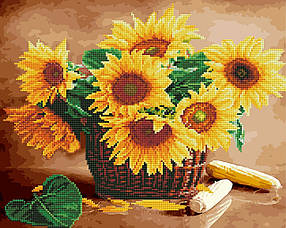 Соняшники в кошику