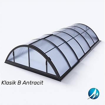 Павильон для бассейна Klasik В 4,7х8,6х1,3м - Antracit