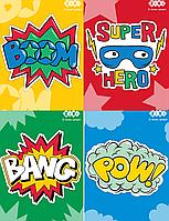 /Блокнот на пружине сверху SUPER HERO А6 40л картонная обложка  KIDS Line