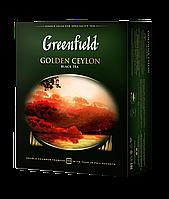 /Чай черный 2г*100 пакет Golden Ceylon GREENFIELD