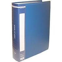 $Папка пластиковая с 100 файламиА4 в пластчехле синяя