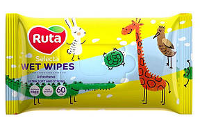 /Салфетки влажные Ruta Selecta Веселые зверушки 60 шт