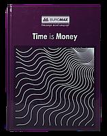 /Книга канцелярская TIME IS MONEY А4 96 л клетка офсет твердая ламинированная обложка фиолет