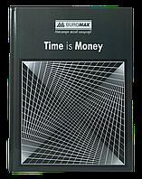 /Книга канцелярская TIME IS MONEY А4 96 л клетка офсет твердая ламинированная обложка серая