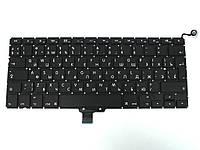 """Клавиатура для APPLE A1278 Macbook Pro MB466, MB467 13.3"""" (RU BLACK, Вертикальный Enter). Оригинал."""