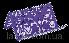 Подставка для визиток BAROCCO металлическая фиолетовая