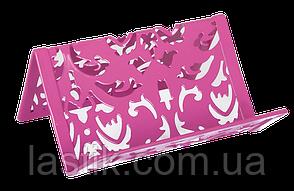 Подставка для визиток BAROCCO металлическая розовая